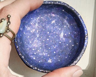 Galaxy Jewelry Dish handmade polymer clay ring dish