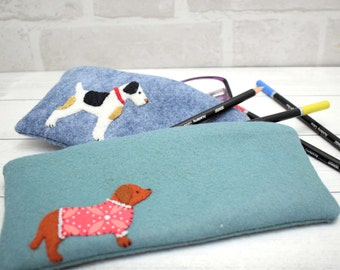 Harvey & Cole Dachshund and Terrier Zipper Pouches pattern download