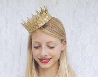"Wicked Queen Gold Crown -  ""Wicked Crown"" - halloween costume, princess crown, birthday crown"