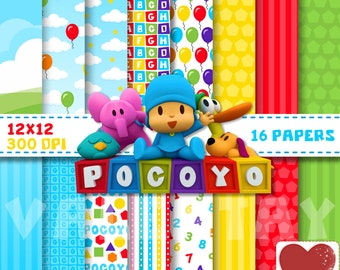 Pocoyo Digital Paper Kit Digital Pocoyo