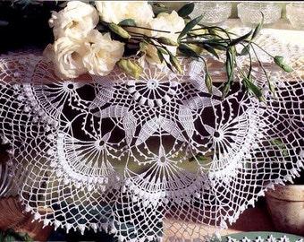"SALE! White lace crochet doily, 21"" black doily, crochet doilies, home decor, handmade"