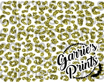 Priontable   Leopard Print   Gold Glitter