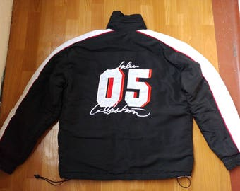 FUBU jacket, vintage Fubu 2 SIDED windbreaker, 90s hip-hop clothing, 1990s hip hop shirt, og, gangsta rap, black color Fubu jersey, size XL