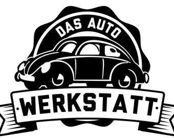 VW Volkswagen T Shirt - Das Werkstatt VW Bug - VW Tee Shirt