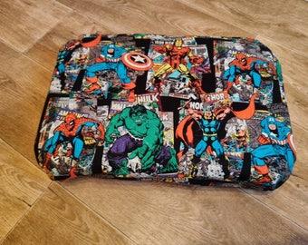 Superhero comic footstool/playstool