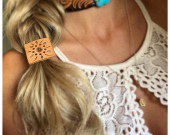 Handmade Leather Hair Tie