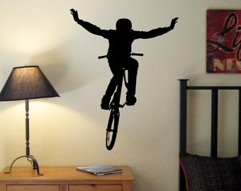BMX Bike Jump Wall Decal, BMX Room, BMX Wall Decal,