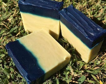 Organic soap Indigo and Tea tree organic soap vegan soap handmade detail vegan wedding detail Wedding Organic Soaps