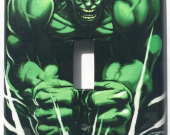 Incredible Hulk Single Light Switch Plate Cover