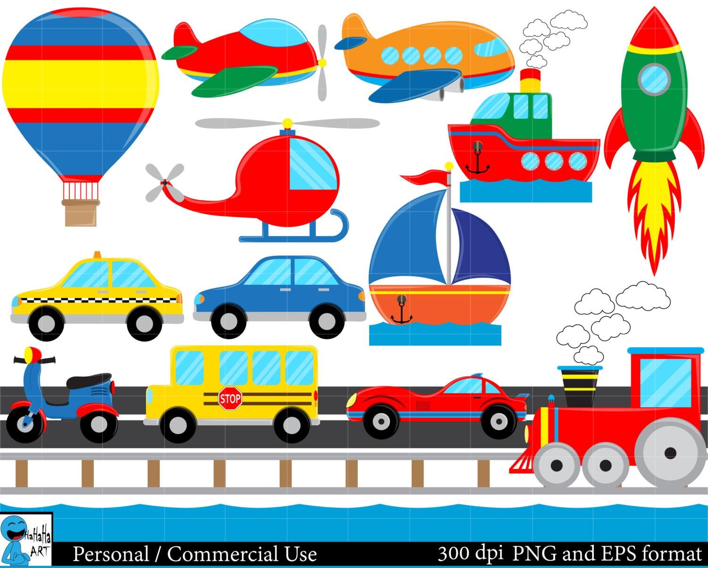 all transportation set clipart digital clip art graphics