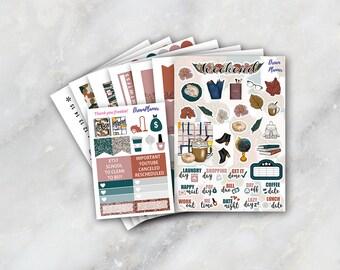 Study Session Sticker Kit 7 & 1/2 Sheets Erin Condren / Planner Stikers / Life planner / Happy Planner / Dream Planner
