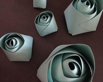 Paper Flower Rose Center Template, Printable PDF, digital download, DIY Paper Flower