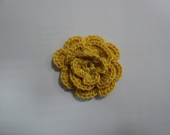 10 yellow mustard flowers to CROCHET for SCRAPBOOKING Ø 3.5 cm ref: z37