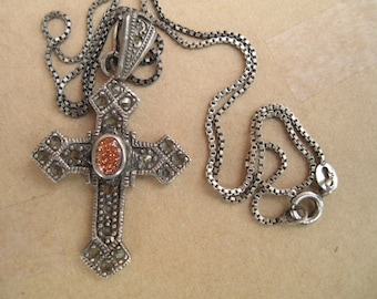 Cross with Goldstone -- Sterling - 174