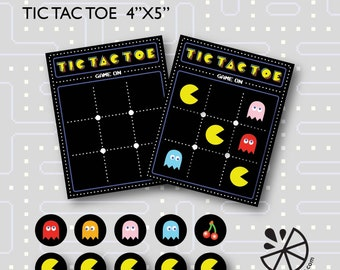 Pac-Man Tic Tac Toe Birthday Party Printable INSTANT DOWNLOAD