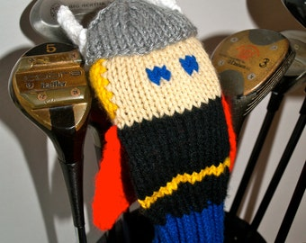 Knit PATTERN Thor Golf Club Cover PDF