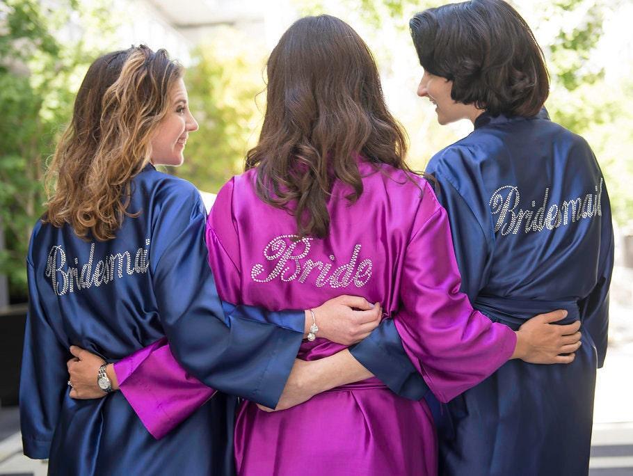 Trajes de Madrina novia bata batas-tallas grandes Vestido