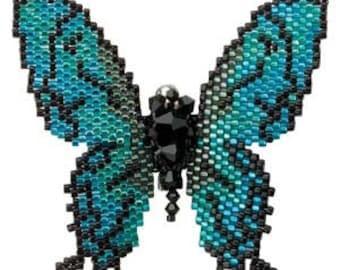 free shipping in UK - Lazuline Butterfly Brooch Miyuki Beading Kit Stocking Filler