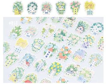 Post Cards Flower House SM223232 30pcs