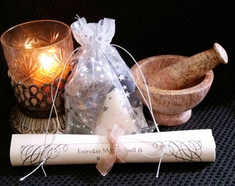 Spirituality & Spiritual Seeker Pyramid Candle Spell Kit -- Spell Kit To Promote Spiritual Guidance and Ability With Pyramid Power!