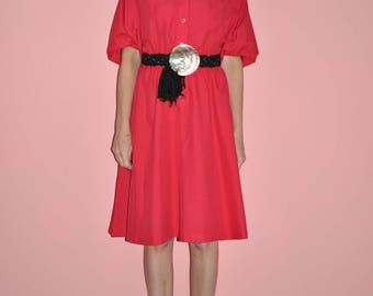1990s Puffy Sleeve Dress