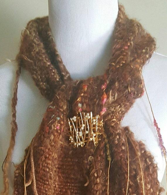 CYBER MONDAY Hand woven Saori inspired winter scarf