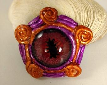 Purple Dragon eye Pin