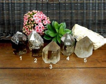 Raw Smokey Quartz Polished Points- Smoky Quartz  - You Choose - (RK102B4-01)