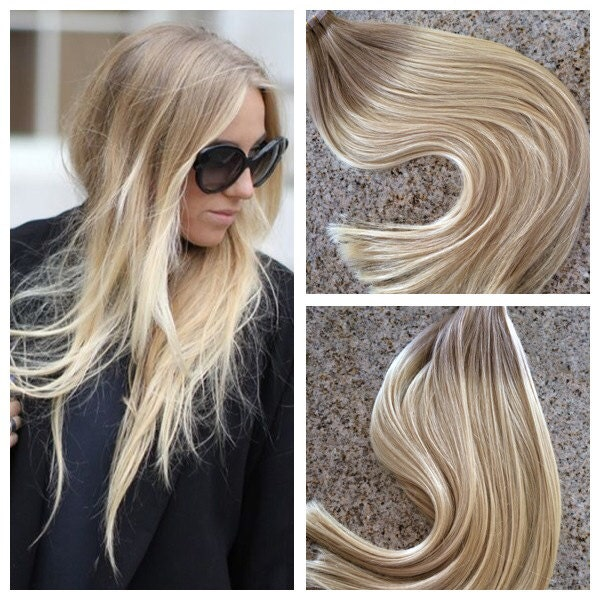 5 Star Ombre Cuticle Remy Human Hair Keratin Fusion Tape In Seamless