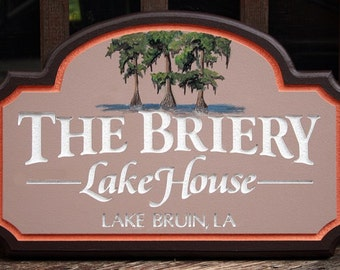 Custom Beach House Sign lake house sign home decor housewares office outdoor sign wall hanging custom sign name sign wall decor