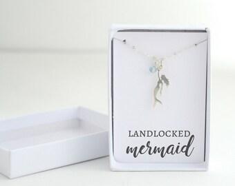 Silver Mermaid Charm Necklace - Mermaid Necklace - Mermaid Silver Jewelry - Little Mermaid Necklace - Dainty Mermaid Necklace