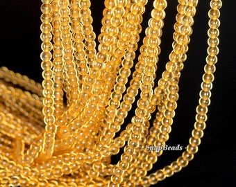 3MM Golden Honey Citrine Gemstone Grade AA Round 3MM Loose Beads 16 inch Full Strand BULK LOT 1,2,6,12 and 50 (90113630-107 - 3mm D)
