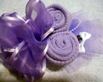 2 Baby Shower Corsages  1 Lavender and 1 Pink