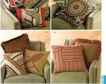 Simplicity 1633 Pillows in 4 Sizes Sewing Pattern / Uncut FF