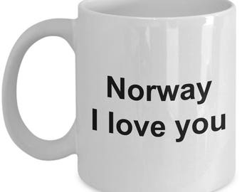 Norwegian Mug - Norway I Love You - Norway lovers -  Coffee Mug - Unique Gift