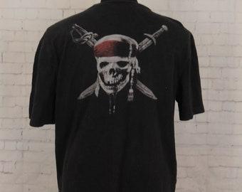Vintage Pirates of The Caribbean On Stranger Tides T-Shirt Size XL