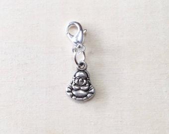 Buddha Stitch Marker | Progress Keeper | Zipper Pull | Planner Charm