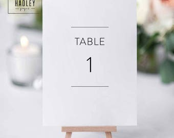Printable table numbers set - Thompson collection