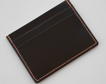 Minimalist Wallet - Horween Shell Cordovan / Card Holder / Card Case / Slim Wallet Hand Stitched