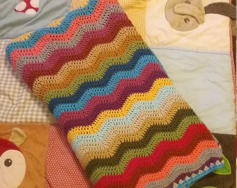 Hand Crocheted Wave Blanket
