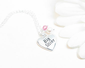 Big Sister Necklace - Big Sister Gift - Sister Jewelry - Sister Necklace - Big Sister Jewelry - Pregnancy Announcement