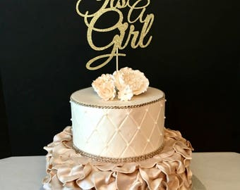 It's A Girl Cake Topper, Baby Sprinkle Cake Topper, Baby Shower Cake Topper, ANY COLOR