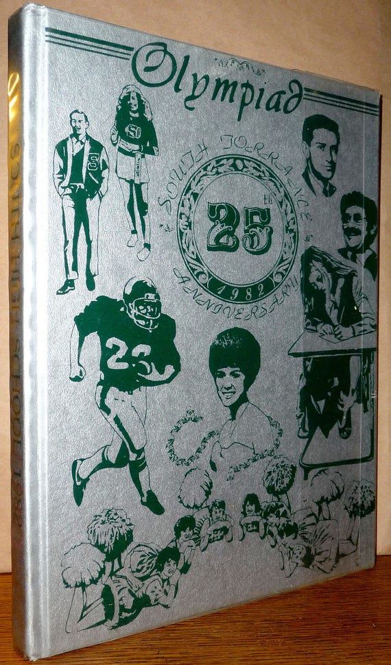South High School Yearbook (Annual) 1982 The Olympiad 25th Anniversary Torrance, California CA Los Angeles County