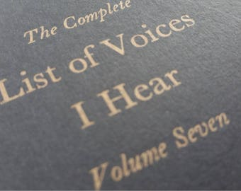 Voices - Funny Letterpress Notebooks, Jotters, Journals, Cahiers - A6 Moleskines