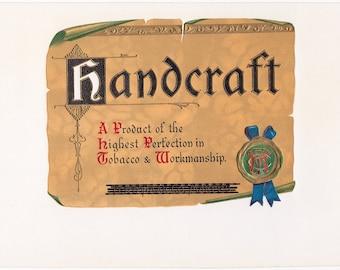 Handcraft Inner Cigar Box Label Ferd Haak Co. Davenport, Iowa #1