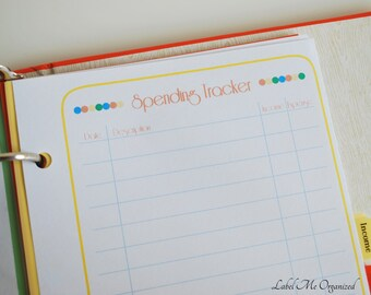 Spending Tracker - A5 Sized