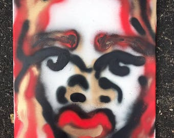 Red/Gold Spray Paint Portrait