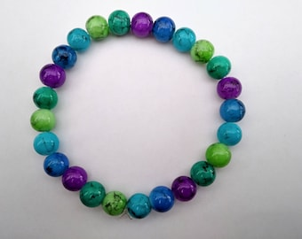 Blue green purple bracelet