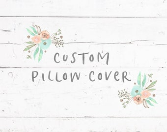 Custom Pillow Cover Made to Match your Quilt or Blanket Different Sizes Envelope Style Made to Order Couch Sofa Pillow Cover Baby Nursery