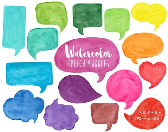 speech bubble clipart watercolor speech bubble clip art hand rh etsy com speech bubble clipart free speech bubble clipart free